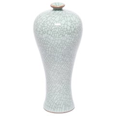 Petite Chinese Crackled Meiping Vase