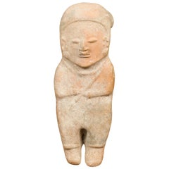 Petite Chinese Early Qing Dynasty Red Sand Figurine from the 17th Century