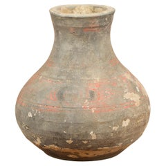 Petite Chinese Han Dynasty Hand-Painted Terracotta Jug, circa 202 BC-200 AD