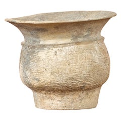 Petite Chinese Han Dynasty Terracotta Vessel with Incised Accents