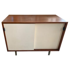 Petite Classic Knoll Credenza in Walnut and Cream