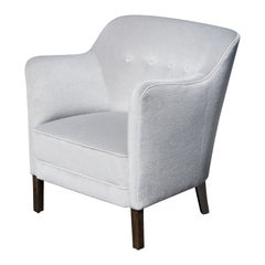 Petite Danish Accent Chair in Mist Mohair