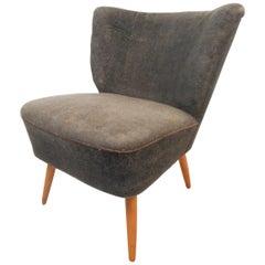 Petite Danish Modern Slipper Chair