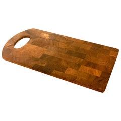 Petite Dansk Solid Teak Danish Modern Tray/Cutting Board by Quistgaard