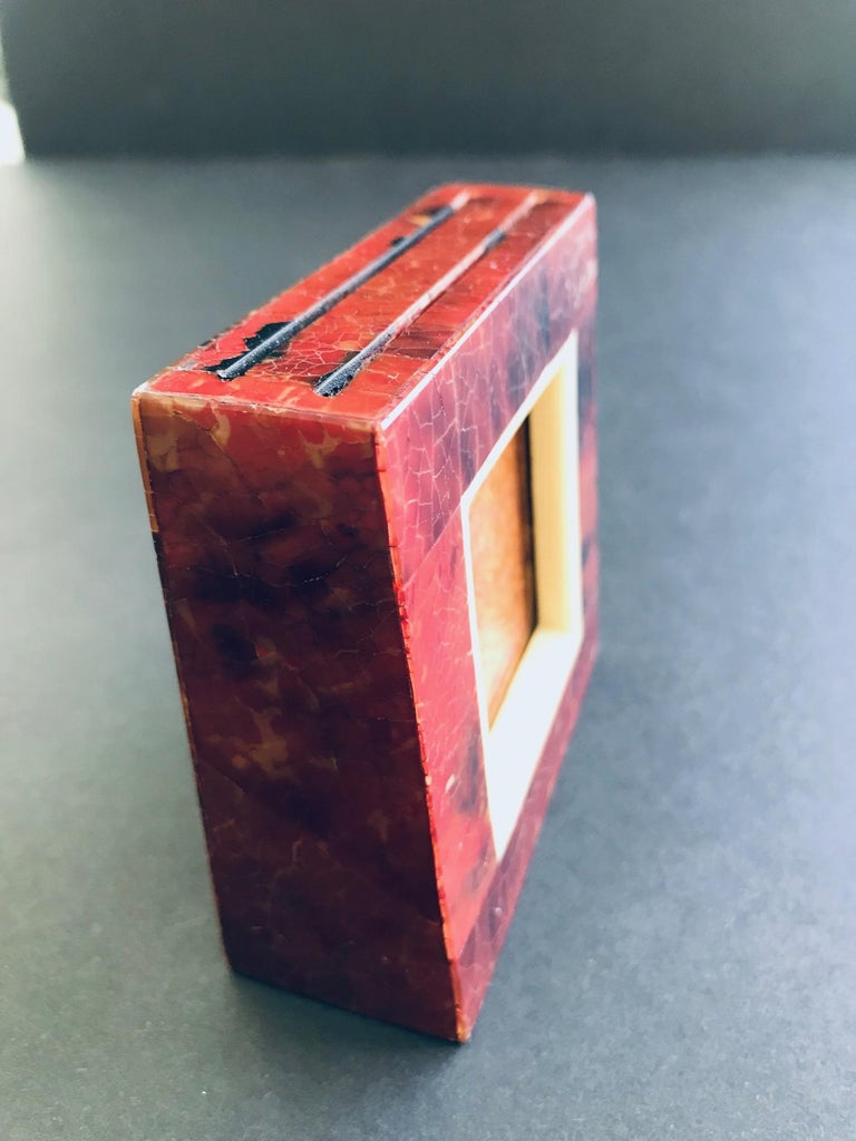 Petite Dual Picture Frame in Exotic Pen-Shell and Bone by R&Y Augousti For Sale 6