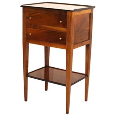Petite Empire Pillar Cabinet, Walnut Solid, French Polished, France, circa 1810