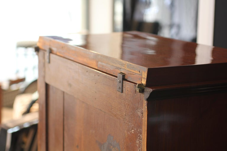 Museal Mahogany Empire Secretaire, Side Drawers, Bronzes, France circa 1815 For Sale 12