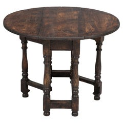 Petite English Drop-Leaf Side Table, End Table or Even Coffee Table, Distressed