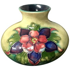 Petite English Floral Art Pottery Vase by William Moorcroft
