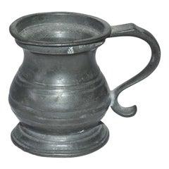 Petite English Pewter Barroom Half Gill Measuring Cup