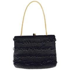 Petite Evening Bag Noir Flapper Style