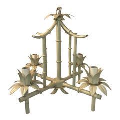 Petite Faux Bamboo Chandelier