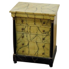 Petite Faux Marble Chest of Drawers