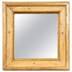 Petite French 19th Century Square Giltwood Mirror