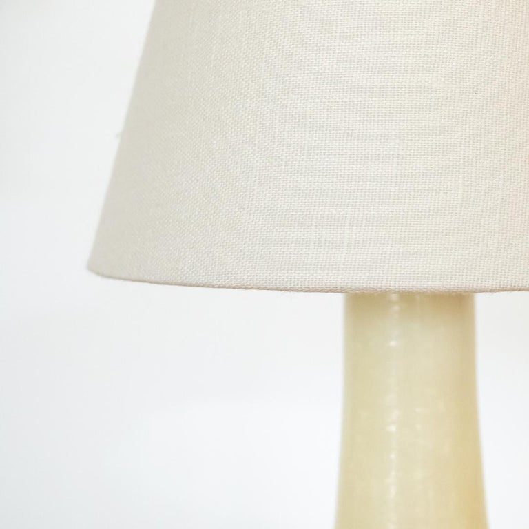 Petite French Alabaster Table Lamp In Good Condition For Sale In Los Angeles, CA