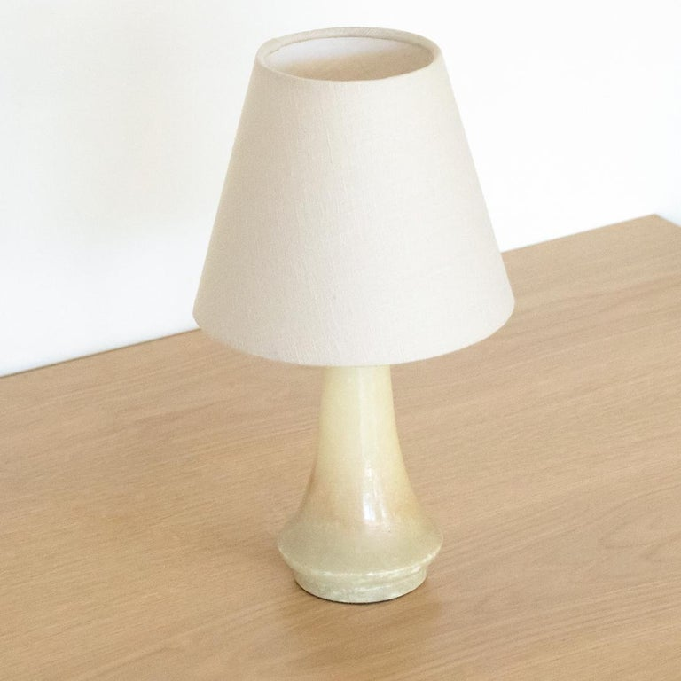 20th Century Petite French Alabaster Table Lamp For Sale