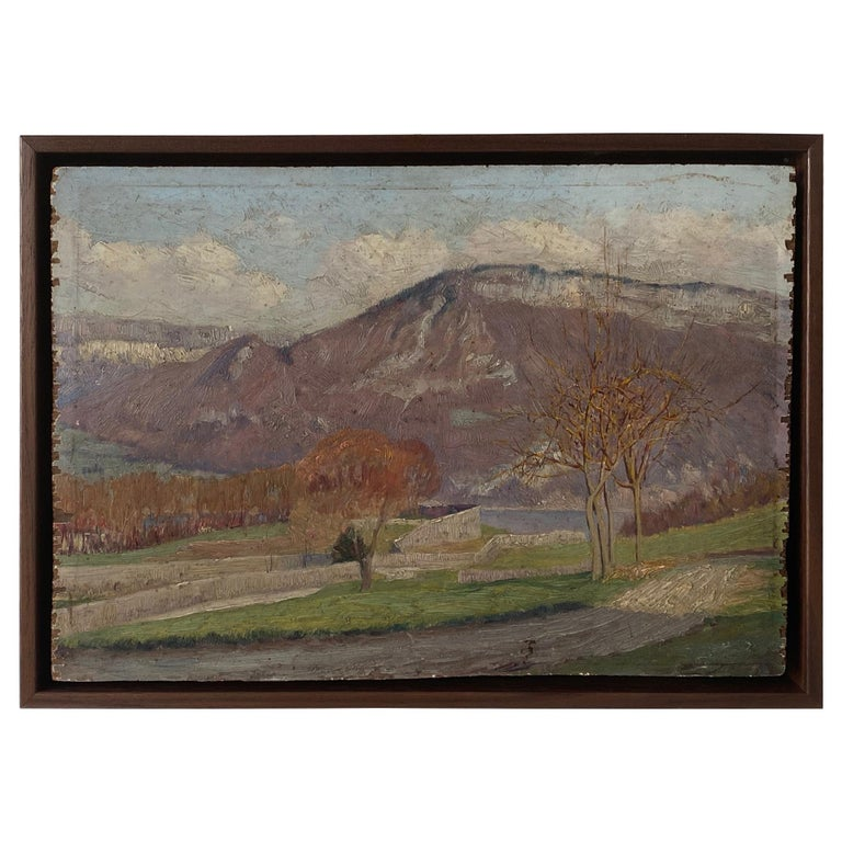 French landscape painting, early 20th century, offered by Nickey Kehoe