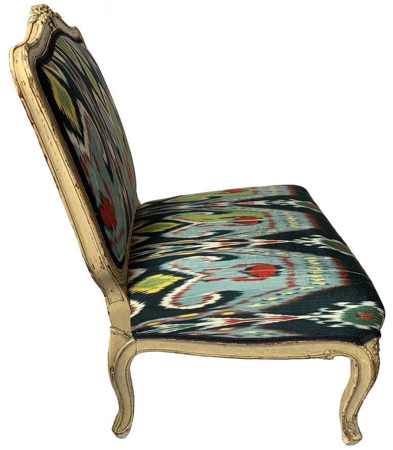 20th Century Petite French Louis XV Style Slipper Chair For Sale