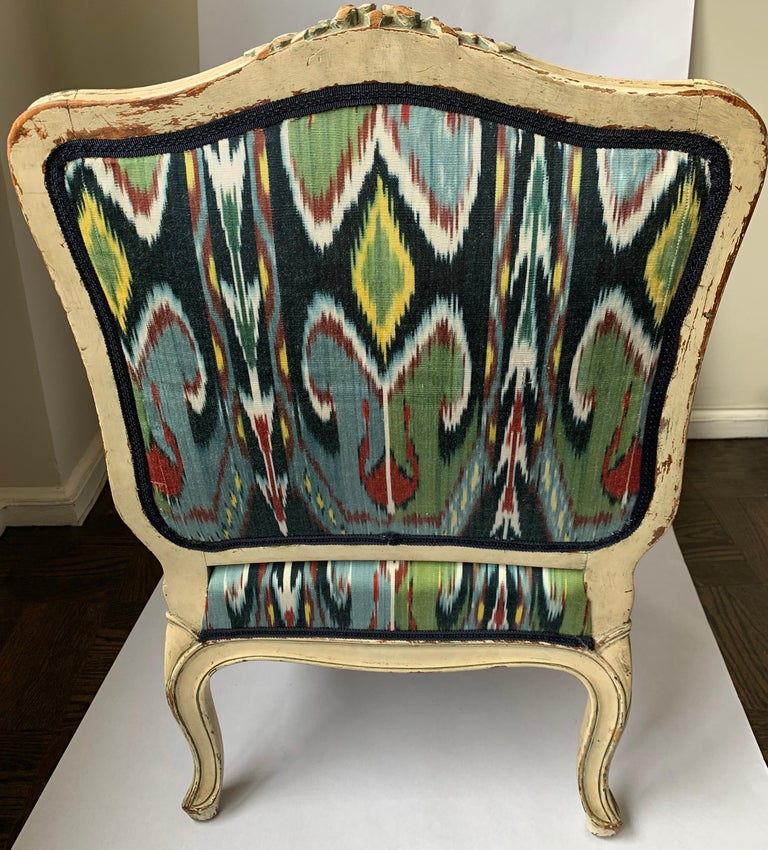 Petite French Louis XV Style Slipper Chair For Sale 2