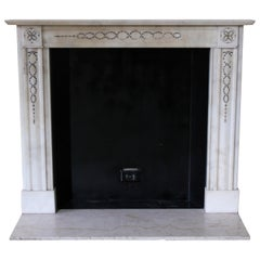 Petite French Regency Statuary White Marble Mantel from the Waldorf Astoria