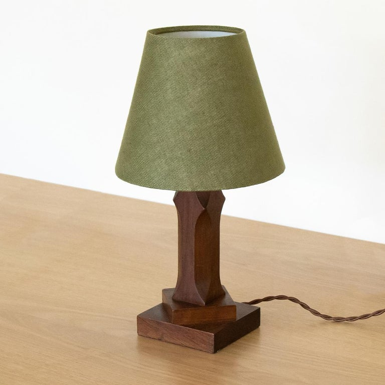 Petite French Wood Lamp In Good Condition For Sale In Los Angeles, CA