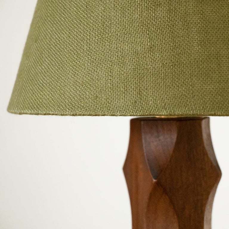 20th Century Petite French Wood Lamp For Sale