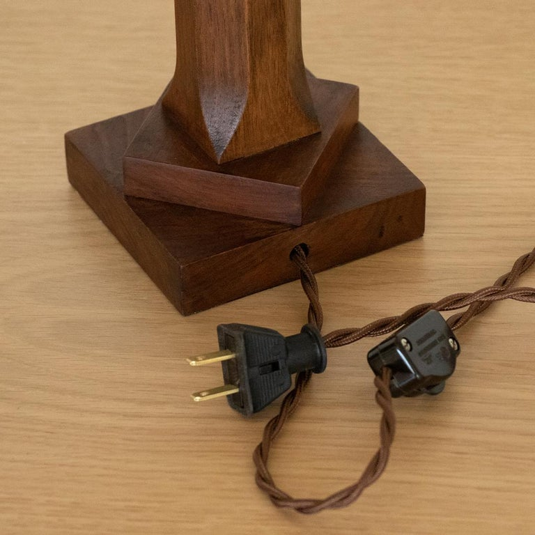 Petite French Wood Lamp For Sale 2