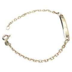 Petite Gold ID Bracelet