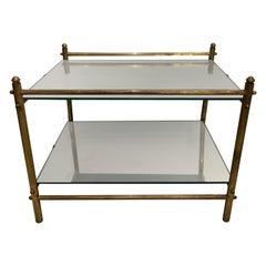 Petite Jansen Style Brass Accent Table