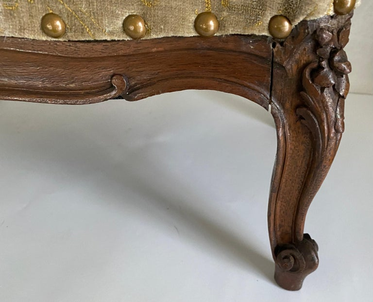French Petite Louis XV Foot Stool For Sale