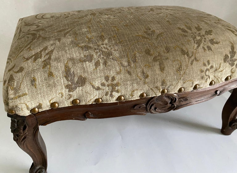 19th Century Petite Louis XV Foot Stool For Sale
