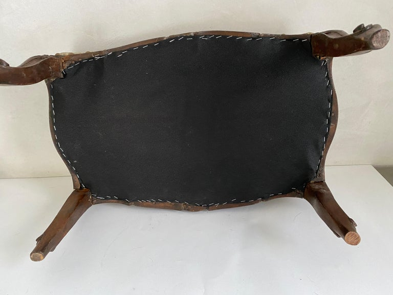 Petite Louis XV Foot Stool For Sale 2