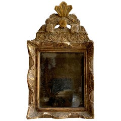 Petite Louis XV Period Mirror, 18th Century