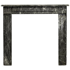 Petite Louis XVI Fireplace Mantel in Saint Anne Marble