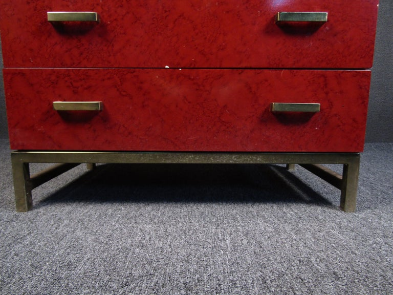 Petite Midcentury Chest of Drawers by Lane Furniture In Fair Condition For Sale In Brooklyn, NY