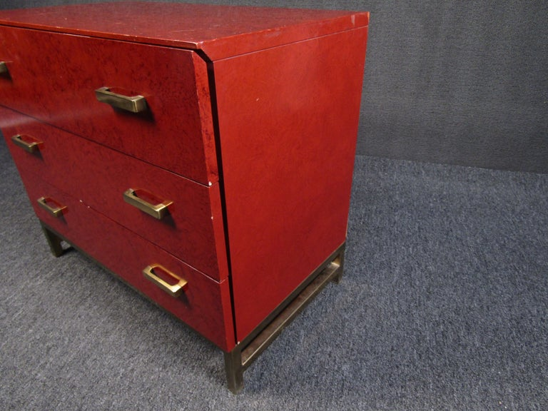 20th Century Petite Midcentury Chest of Drawers by Lane Furniture For Sale