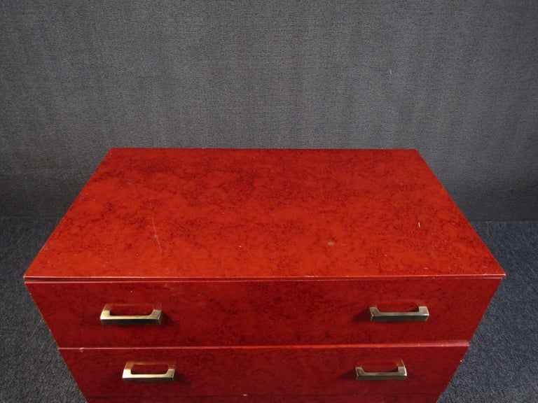 Petite Midcentury Chest of Drawers by Lane Furniture For Sale 1