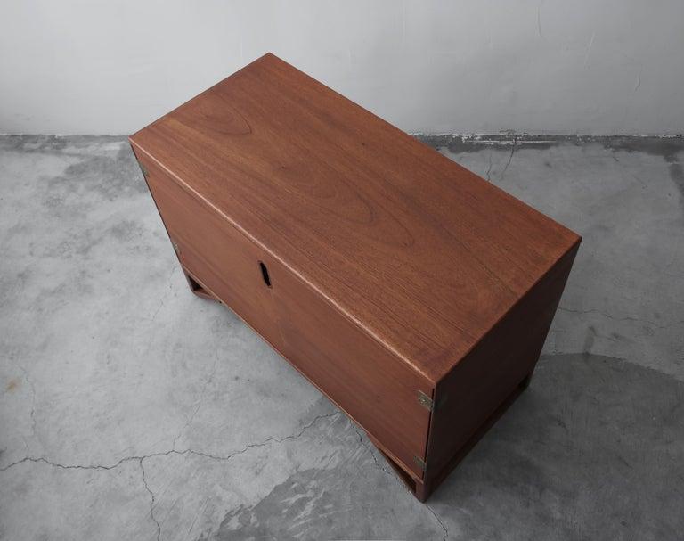 Mid-Century Modern Petite Midcentury Danish Teak Credenza by Svend Langkilde For Sale