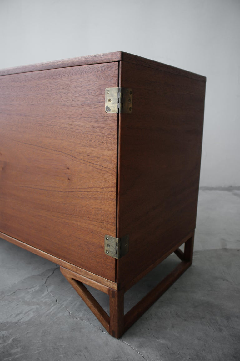 20th Century Petite Midcentury Danish Teak Credenza by Svend Langkilde For Sale