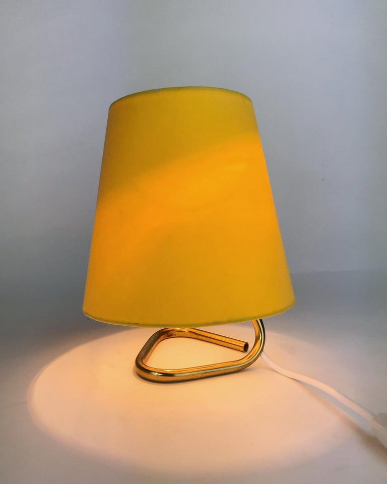 Mid-Century Modern Petite Midcentury Rupert Nikoll Brass Nightstand Table Lamp, 1950s, Austria For Sale