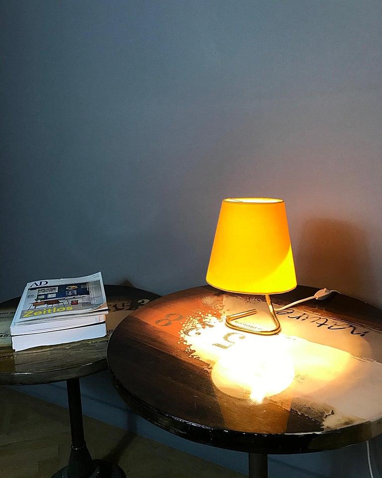 20th Century Petite Midcentury Rupert Nikoll Brass Nightstand Table Lamp, 1950s, Austria For Sale