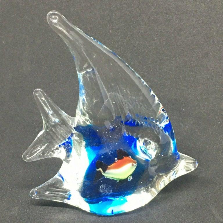 Petite Murano Glass Aquarium Paper Weight Mid-Century Modern, Italy, 1970s For Sale 2