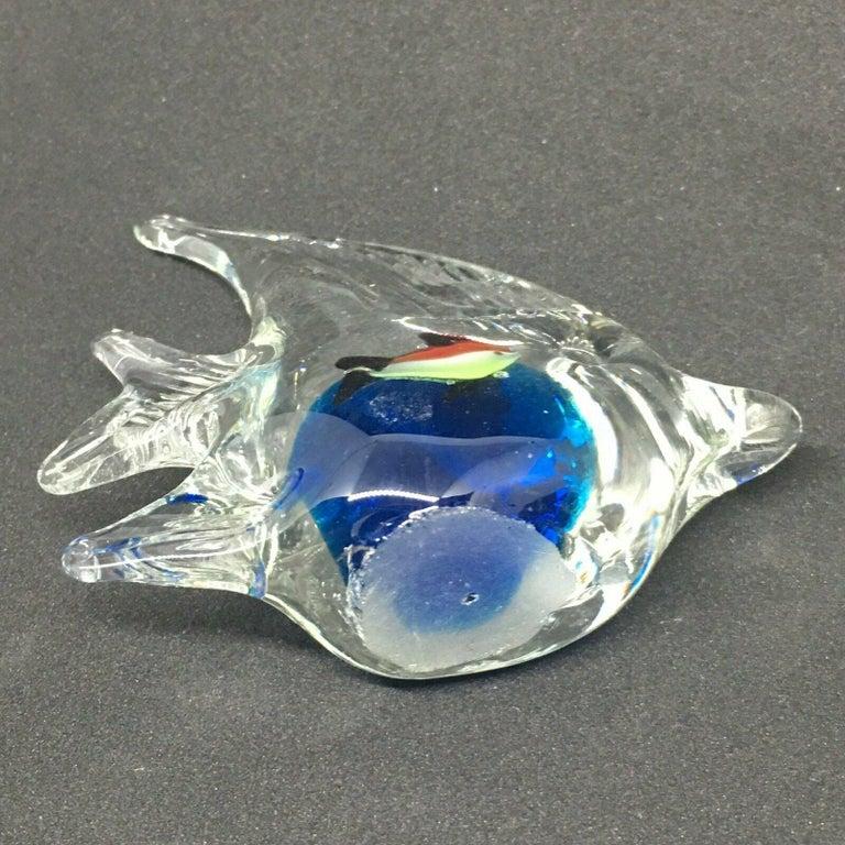Petite Murano Glass Aquarium Paper Weight Mid-Century Modern, Italy, 1970s For Sale 3