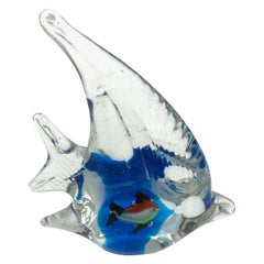 Petite Murano Glass Aquarium Paper Weight Mid-Century Modern, Italy, 1970s