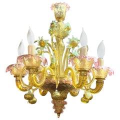 Petite Murano Glass Chandelier