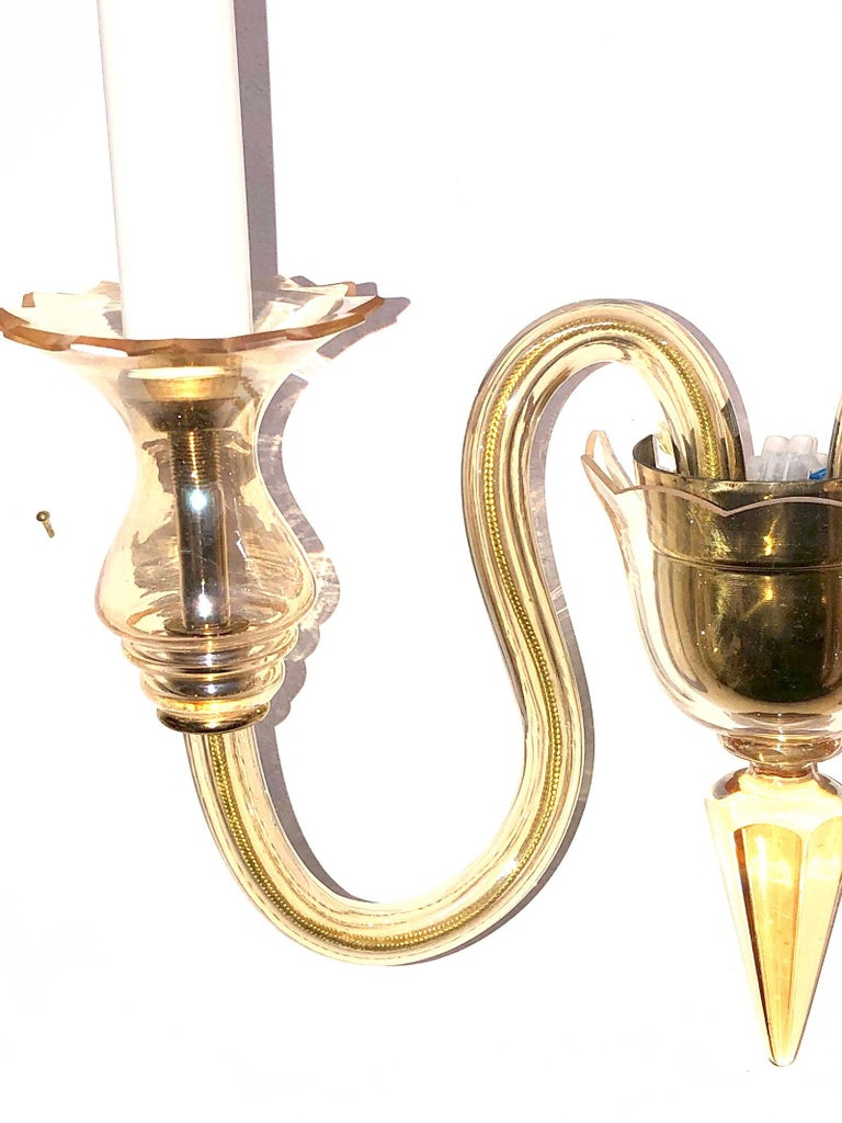 Metal Petite Murano Glass Sconce Wall Lamp Vintage, Italy, 1960s For Sale