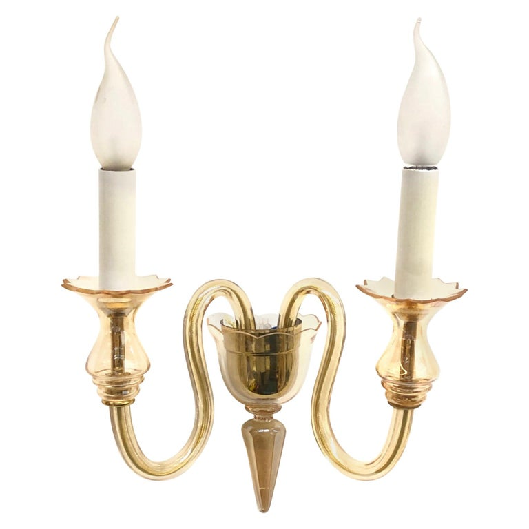 Petite Murano Glass Sconce Wall Lamp Vintage, Italy, 1960s For Sale