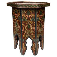 Petite Painted Moroccan Side Table
