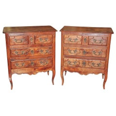 Petite Pair of Provincial Cherrywood Chests