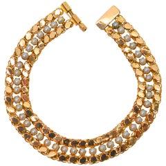 Petite Pearl Yellow Gold Link Bracelet